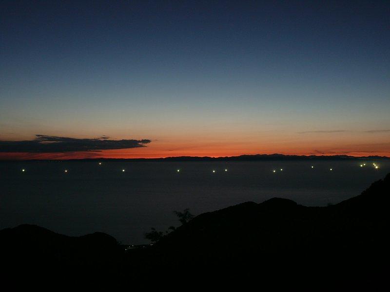 佐渡に沈む夕日